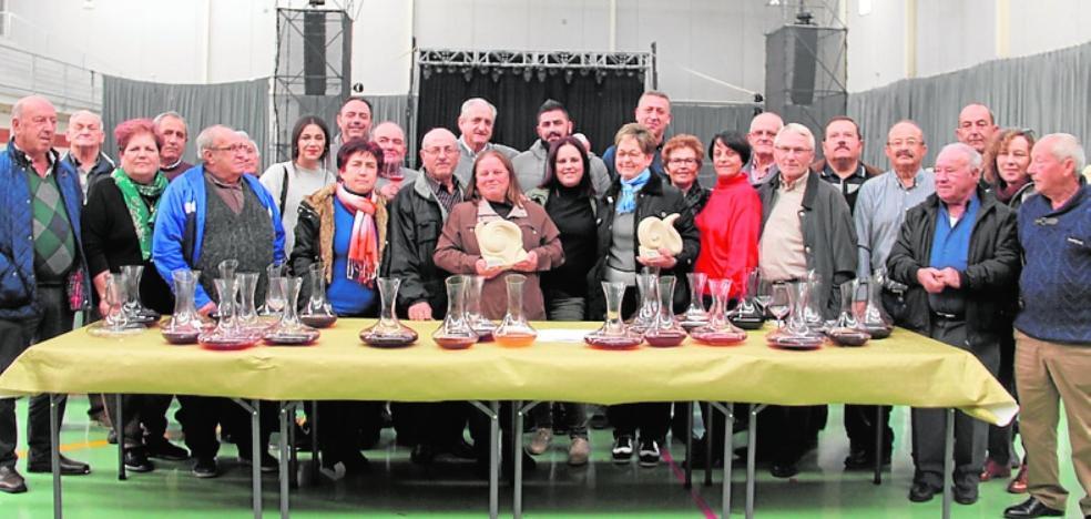 Competición de vinos en El Esparragal