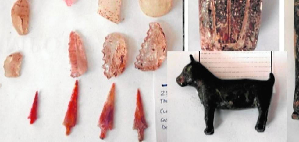 La Guardia Civil recupera 315 piezas arqueológicas saqueadas en yacimientos