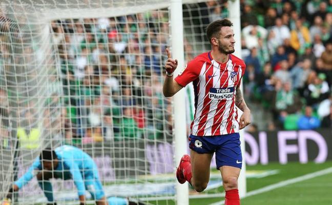 Saúl mantiene el pulso del Atlético