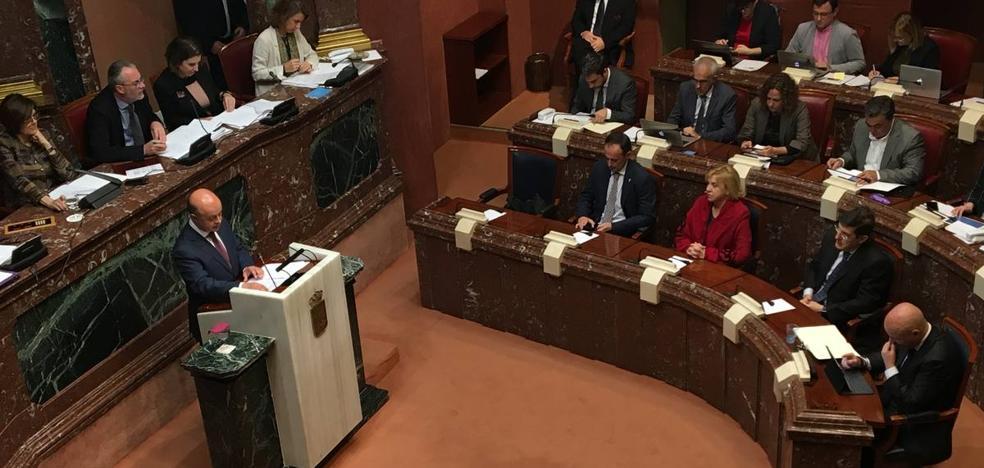 La Asamblea Regional rechaza las enmiendas totales del PSOE y Podemos al proyecto de Presupuestos para 2018
