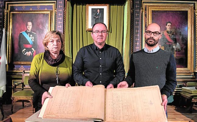 El Archivo ofrece ya restaurado el padrón de 1900 para su consulta