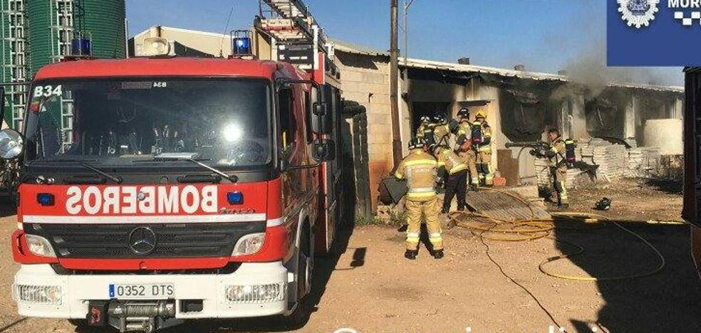 El fuego devora un cebadero de Murcia con 2.000 cerdos en su interior