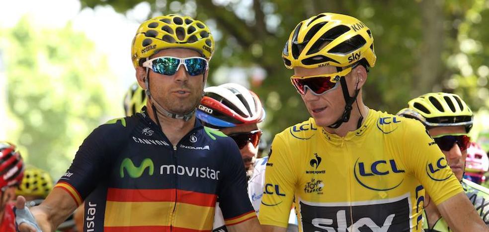 Valverde considera que el positivo de Froome es una «mala noticia para el ciclismo»