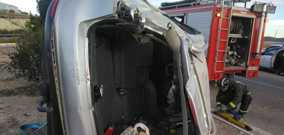 Un hombre resulta herido de gravedad en un accidente de tráfico en Bullas