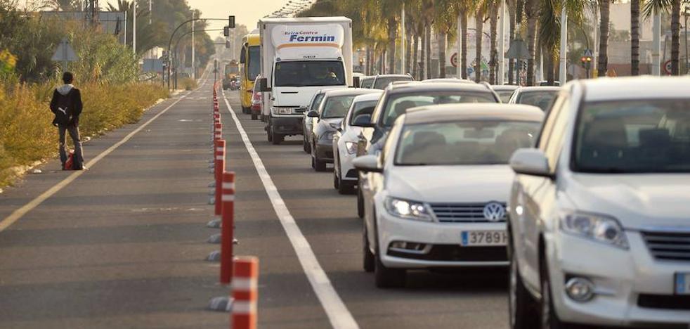 El carril bici de las grandes rondas de Murcia acaba en el Tribunal de Cuentas