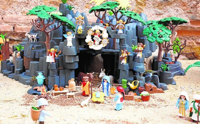Un gran Belén de Playmobil en Las Claras