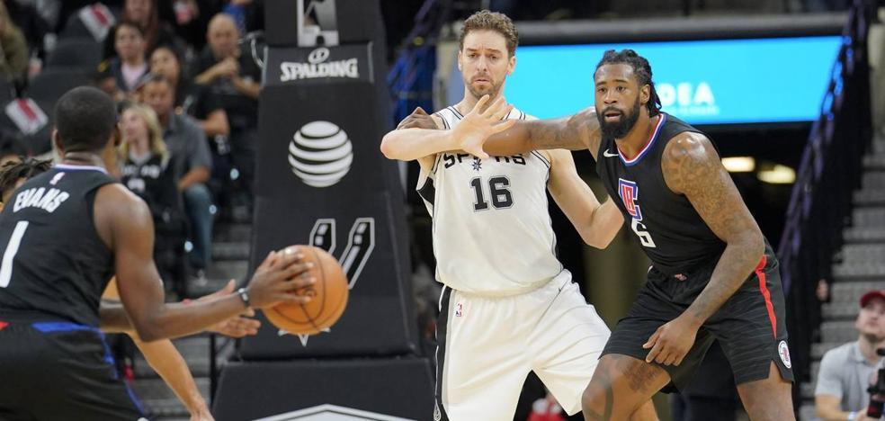 Pau Gasol, clave en el triunfo de los Spurs ante los Clippers