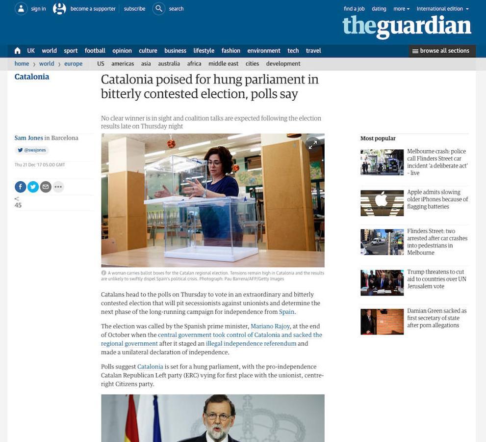 Las elecciones catalanas en la prensa internacional