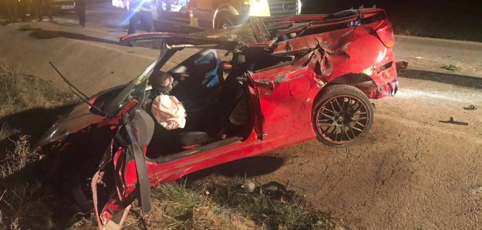 Salva la vida gracias al airbag de su coche tras un espectacular accidente en San Javier