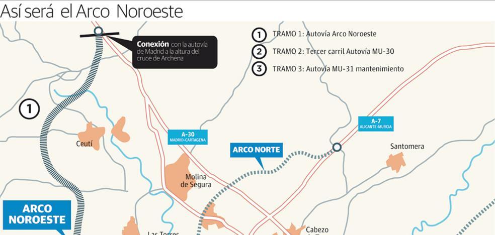 El mayor baipás de la Región unirá cuatro autovías y aliviará Murcia
