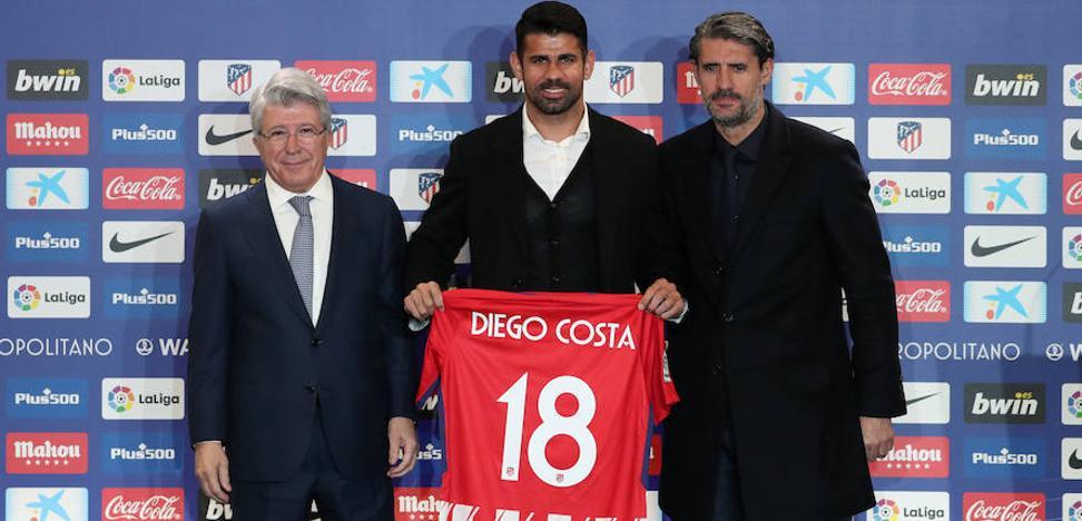 El Atlético de Madrid presenta a Diego Costa y Vitolo
