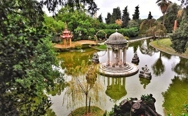 Un jardín con un prólogo y tres actos