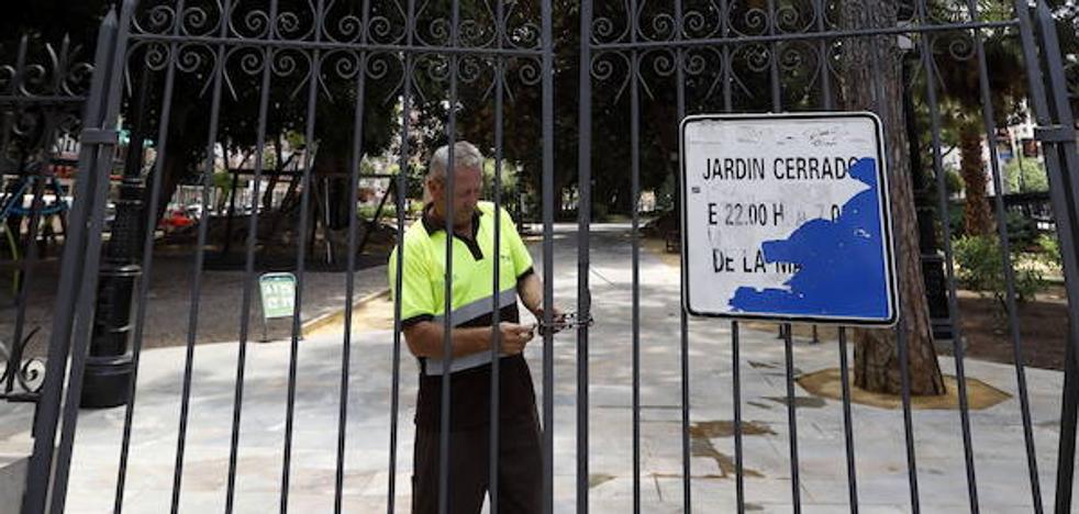 Cierran el jardín de Floridablanca debido a la alerta amarilla por fuertes vientos