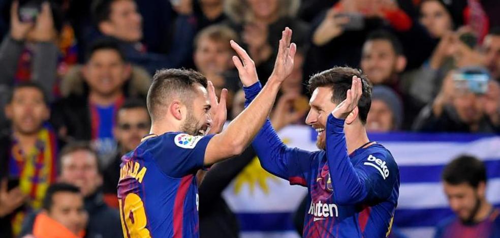 Alba y Messi, la conexión del mejor Barça