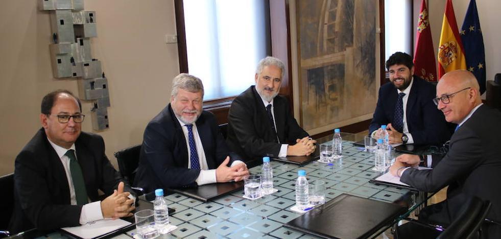 López Miras se reúne con el presidente de Navantia y los miembros del Comité de Dirección de la empresa