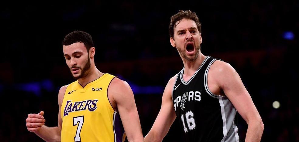 Pau Gasol y Calderón no evitan las derrotas de los Spurs y los Cavaliers