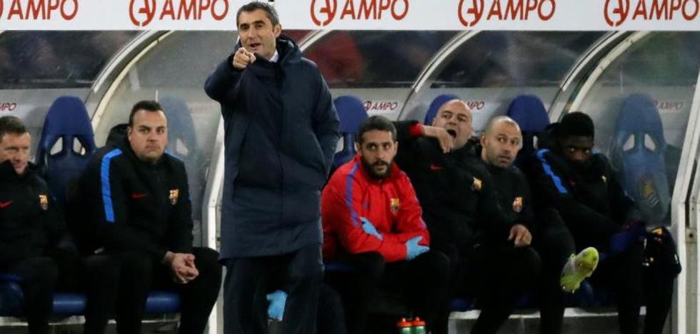La nueva lesión de Dembélé 'ayuda' a Valverde a mantener su exitoso 4-4-2