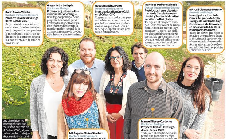 Los siete investigadores del Cebas