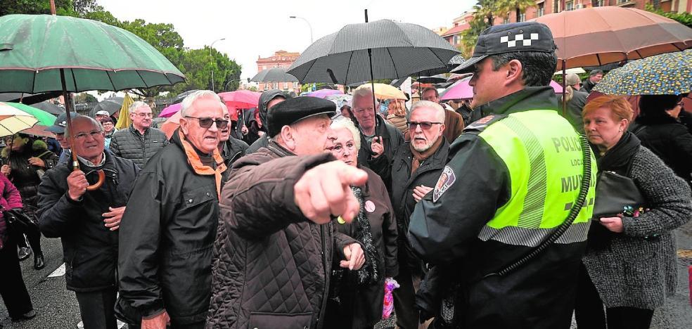 Protesta por la recuperación de las retribuciones