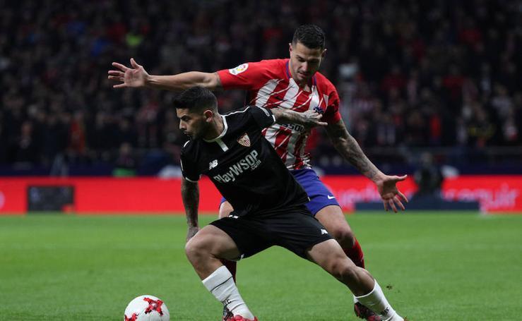 Los mejores momentos del Atlético-Sevilla, en imágenes