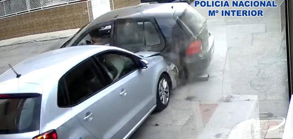 Cuatro detenidos por simular un accidente de tráfico en Cartagena para estafar a los seguros