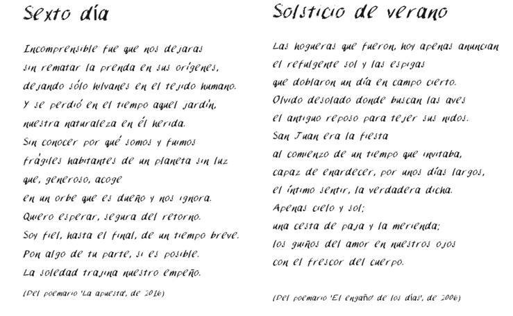 Poemas de Dionisia García