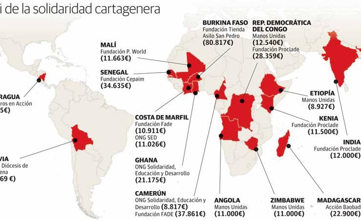 Mapamundi de la solidaridad cartagenera