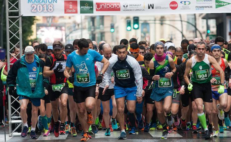 José Gabriel Ballester y Natacha López se imponen en el V Maratón de Murcia