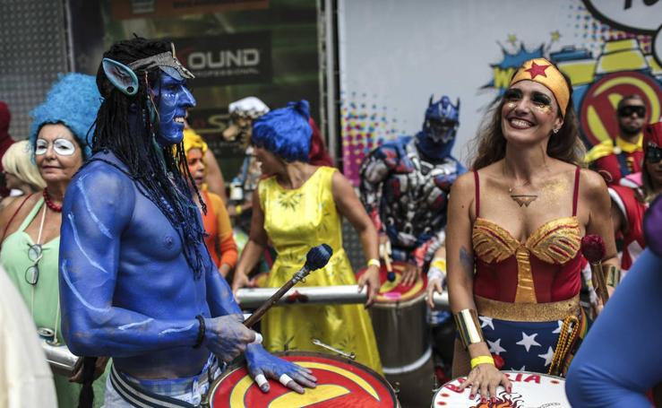Los superhéroes bailan en Río