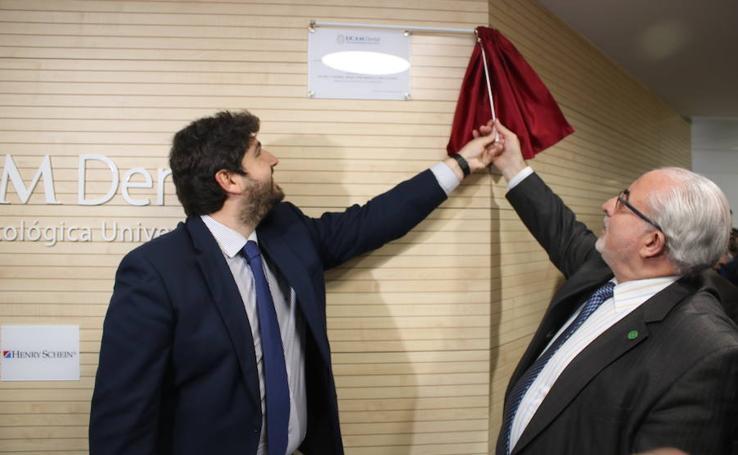 López Miras inaugura en Murcia la clínica odontológica 'UCAM Dental'