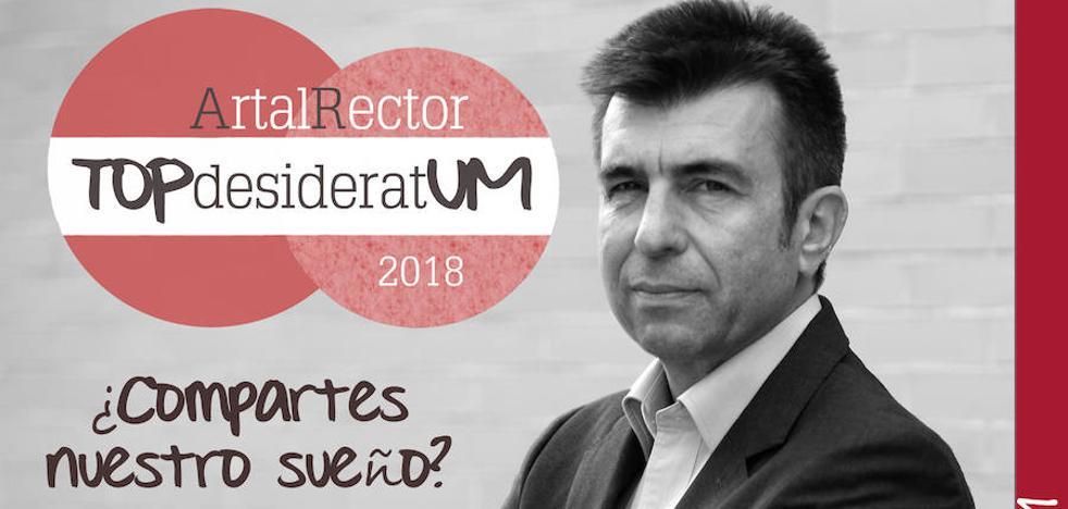 Pablo Artal presenta al equipo de su candidatura a rector de la UMU