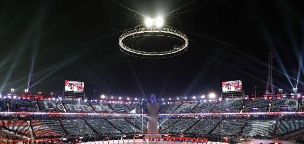 Los mensajes de paz entre las dos Coreas siguen en el centro de los Juegos