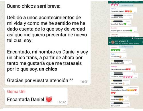 Un joven comunica que es transexual y la reacción de sus compañeros se hace viral en las redes sociales