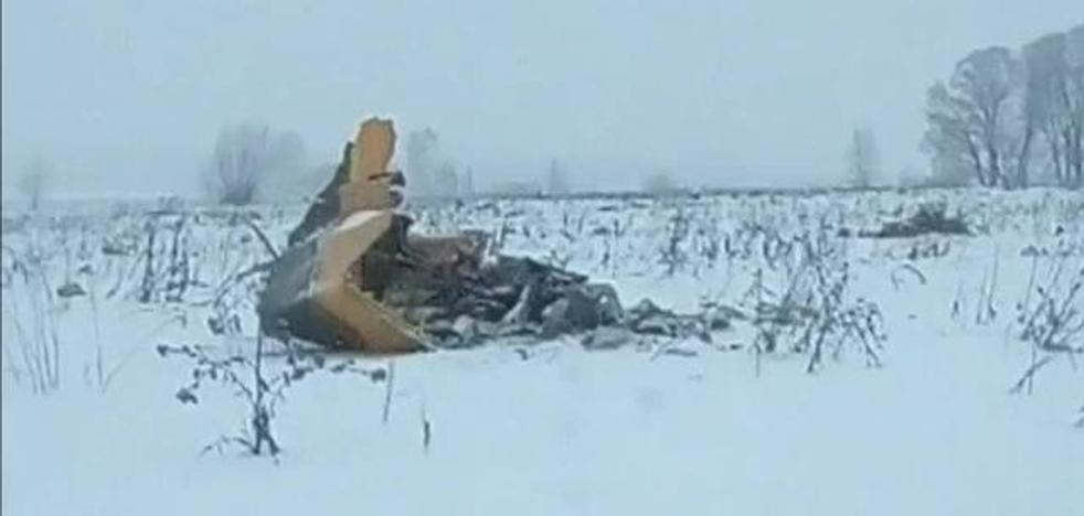 Una cámara de seguridad capta el momento del accidente del avión ruso