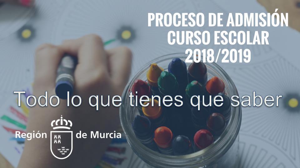 Todo lo que tienes que saber sobre el proceso de escolarización en la Región de Murcia
