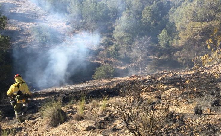 Estabilizan un incendio forestal en Lorca