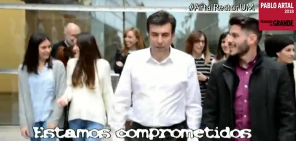 Pablo Artal pide el voto a ritmo de rap