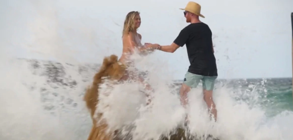 El video de la terrible caída de Kate Upton durante una sesión de fotos en topless