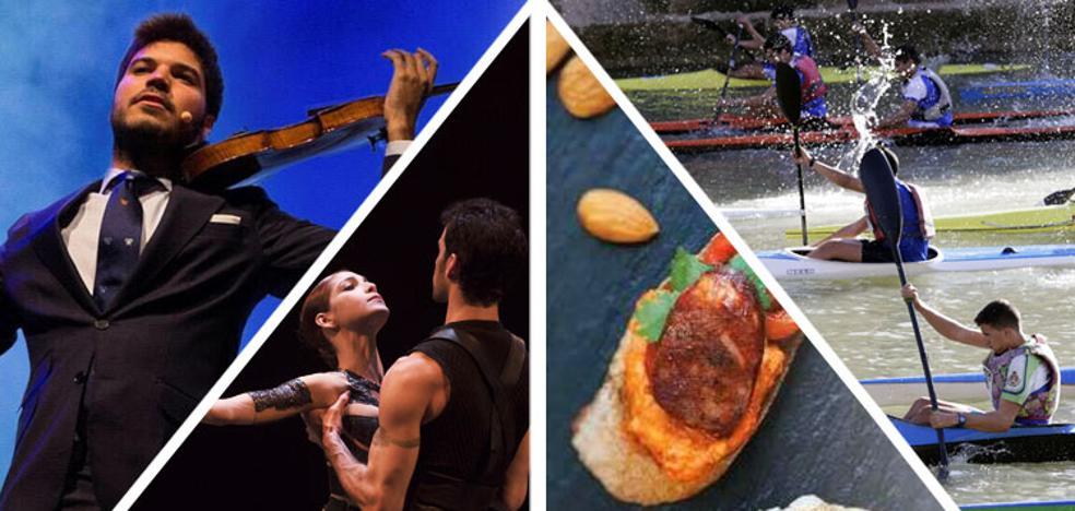 Flamenco, piraguas y danza para un fin de semana muy variado