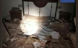 Queda sepultado entre escombros en Aljucer al derrumbarse el techo mientras dormía