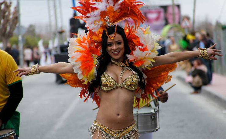 Desfile de carnaval del domingo en Llano de Brujas