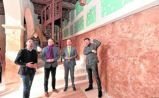 Las obras en el antiguo Pósito permiten descubrir uno de los frentes del Torreón del Reloj