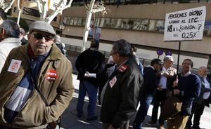 Los pensionistas salen a la calle en Murcia para exigir una subida «decente y razonable»