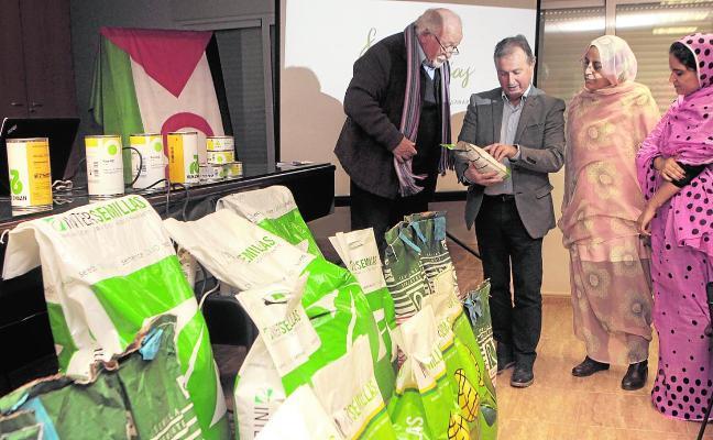 Doscientos kilos de semillas para Tinduf