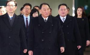 La delegación norcoreana que asistirá a la clausura de los Juegos llega a Corea del Sur