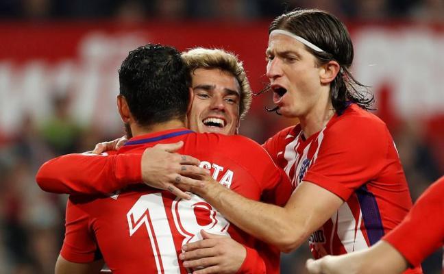 El Atlético se da un homenaje a costa del Sevilla