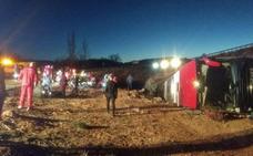 Asciende a once la cifra de heridos graves del accidente de autobús en Burgos