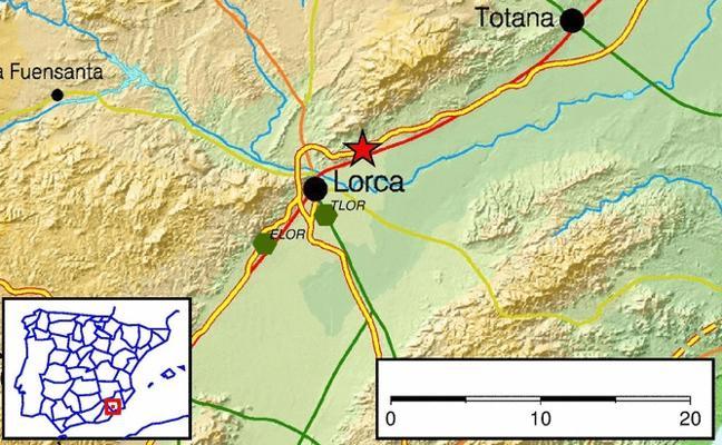 Un terremoto de 2,2 grados se registra en Lorca