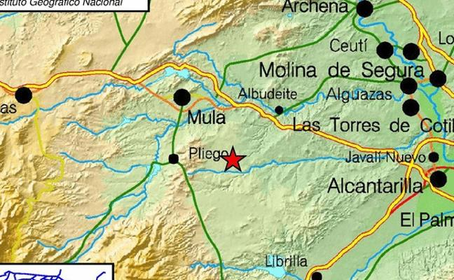 Alarma en la comarca del Río Mula por varios temblores de hasta 4,1 grados