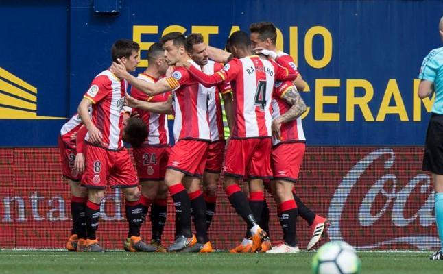 El Girona sorprende al Villarreal y se acerca a Europa